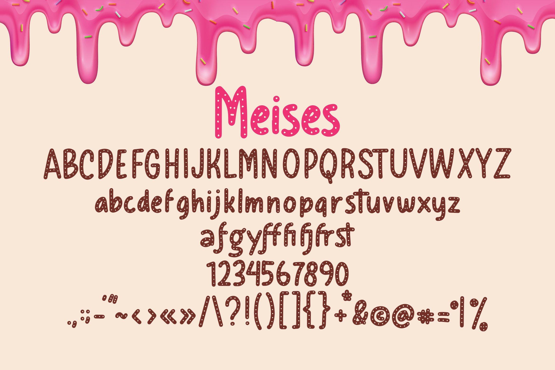 Meises - Doughnut Font example image 4