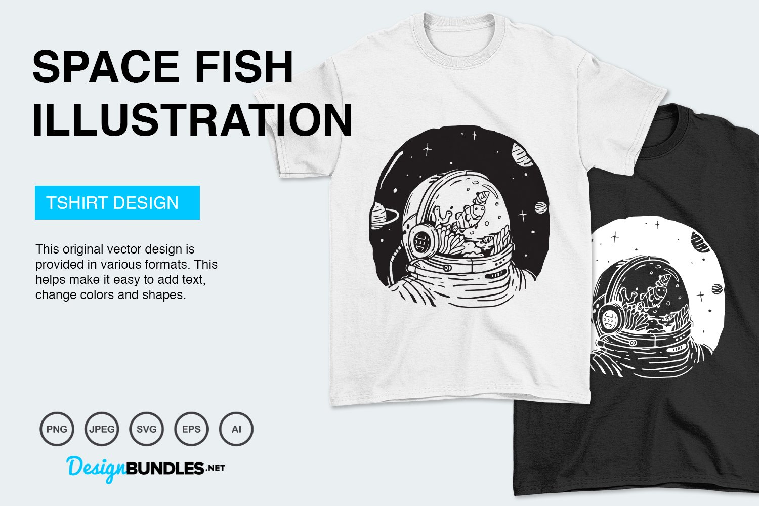 Space Fish Vector Illustration example image 3