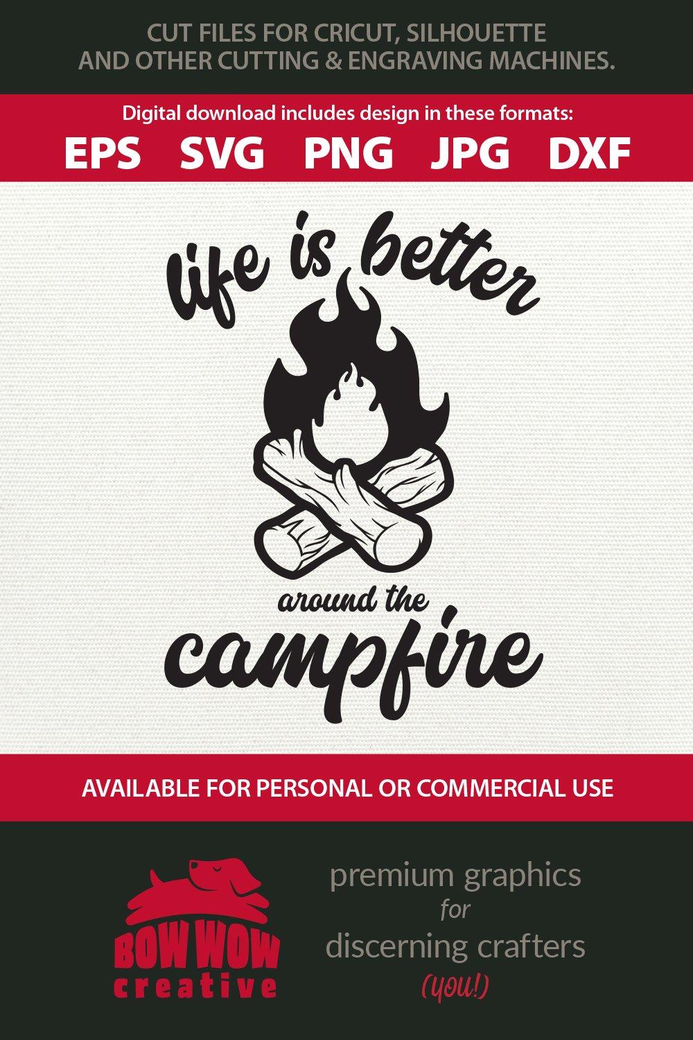 Life is Better Around the Campfire - Camping Quote example image 2