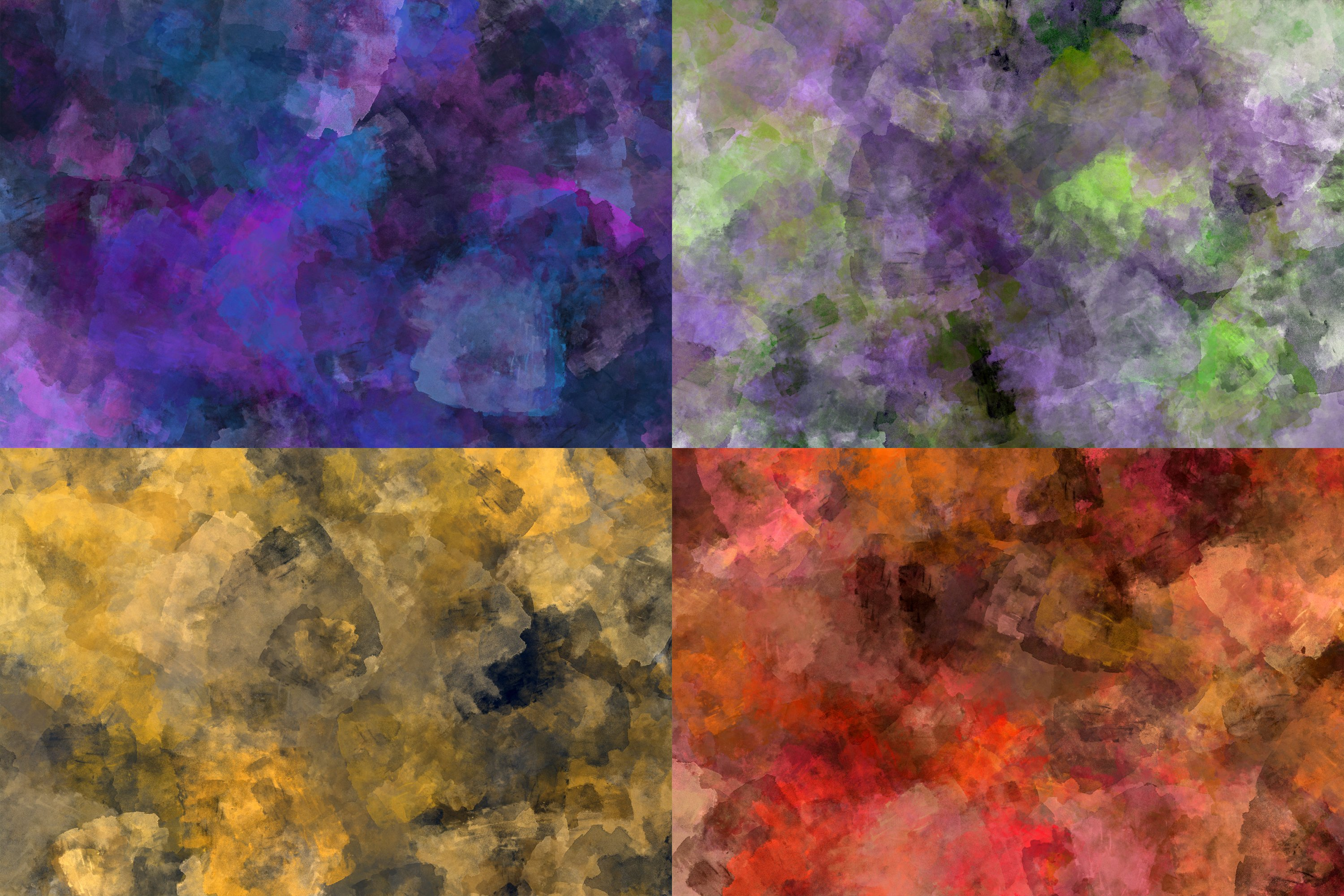 10 Grunge Watercolor Washes Textures example image 4