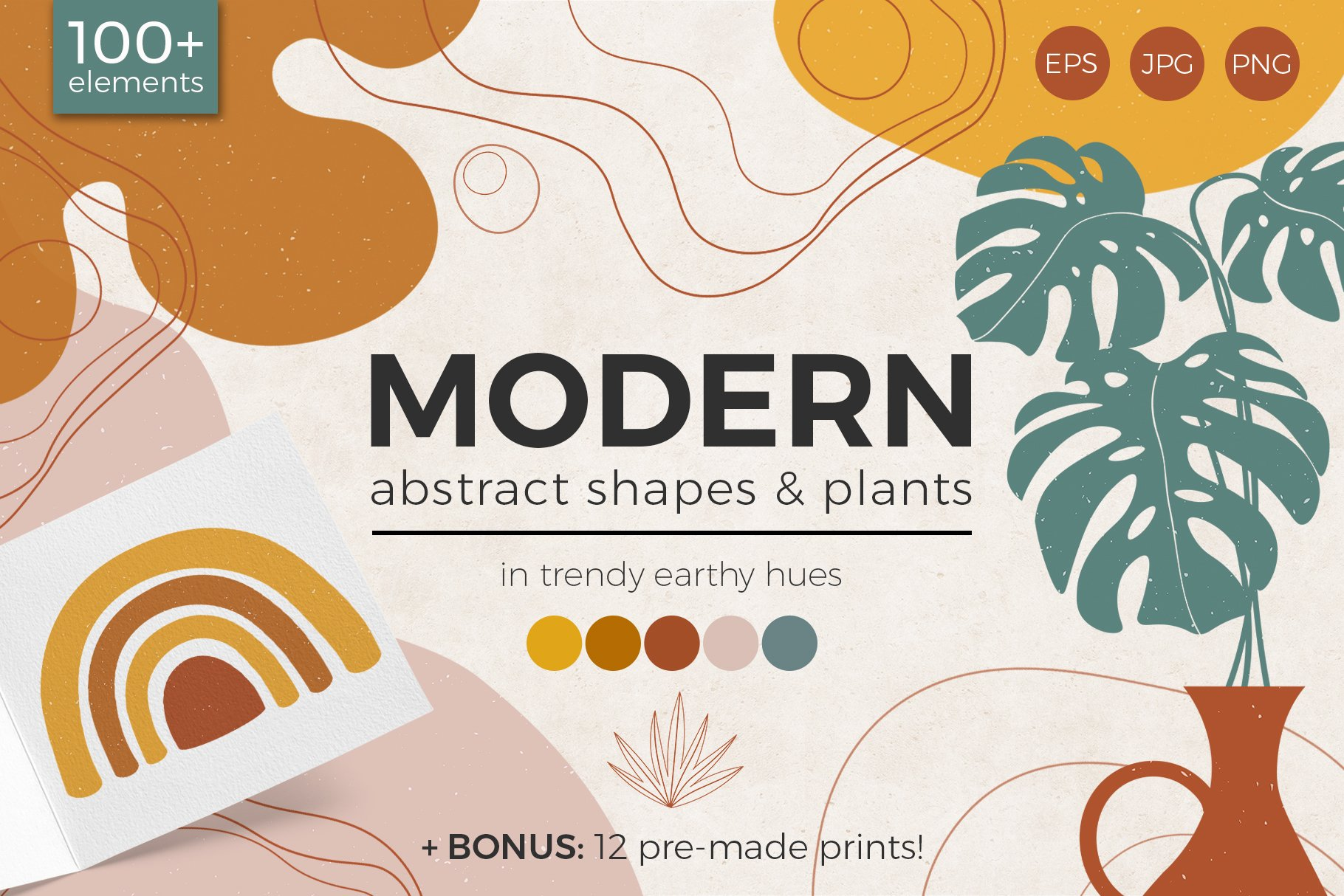 Modern Abstract Shapes And Plants 311841 Illustrations Design Bundles You can download abstract shapes posters and flyers templates,abstract shapes backgrounds,banners,illustrations and graphics image in psd and vectors for free. modern abstract shapes and plants