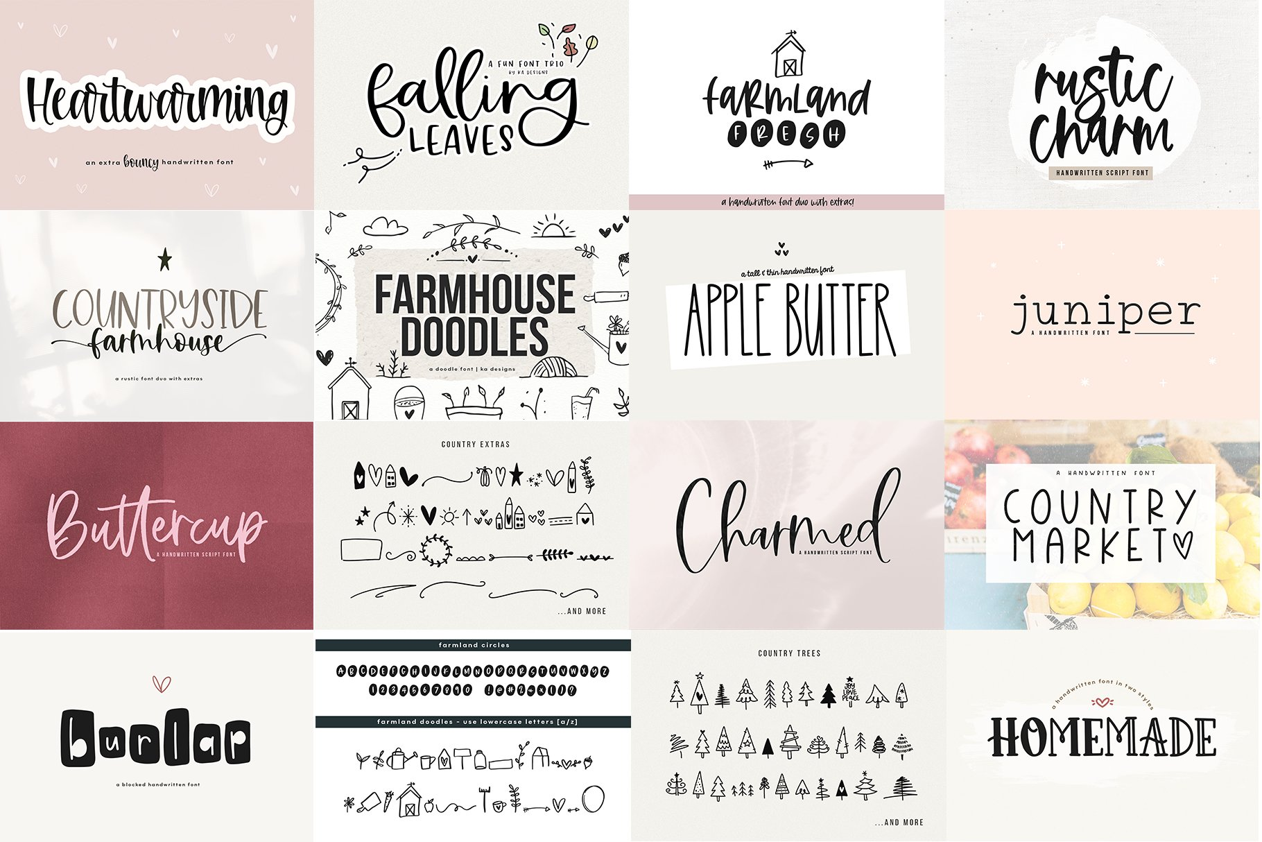 Farmhouse Font Bundle - Handwritten Fonts for Crafters! example image 10