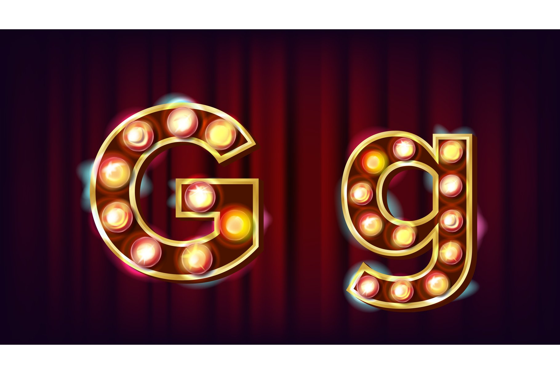 G Letter Vector. Capital example image 1