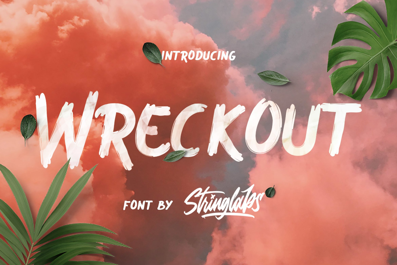Wreckout - Decorative Brush Font example image 1