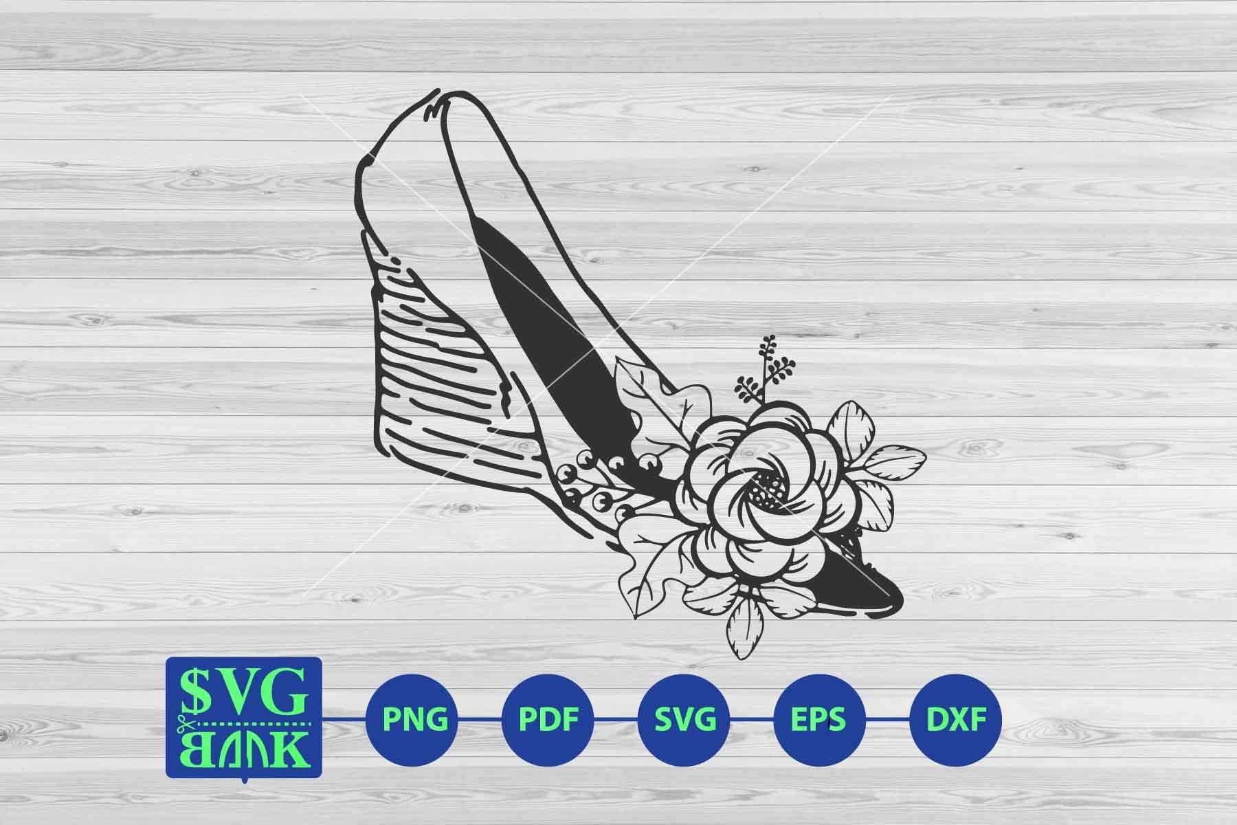 High Heel Svg Woman Shoes With Flower Svg Clipart Cut File 362140 Cut Files Design Bundles