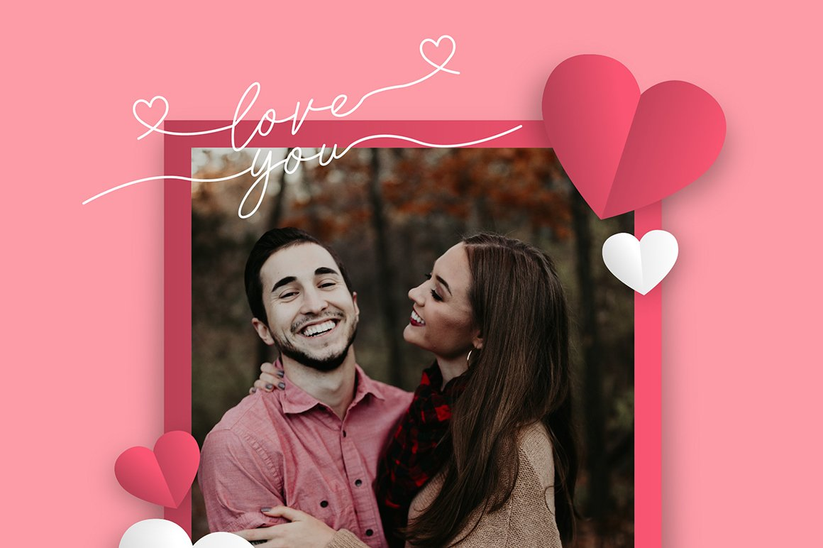 Lovely Love - Font with Swash example image 5
