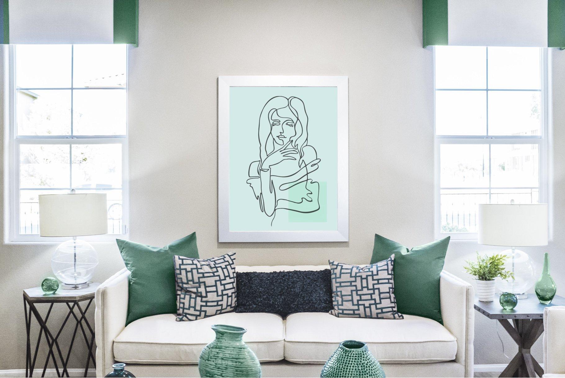 Line art portrait example image 3