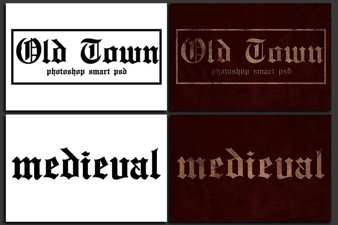 Old Town - Photoshop Text Template example image 2