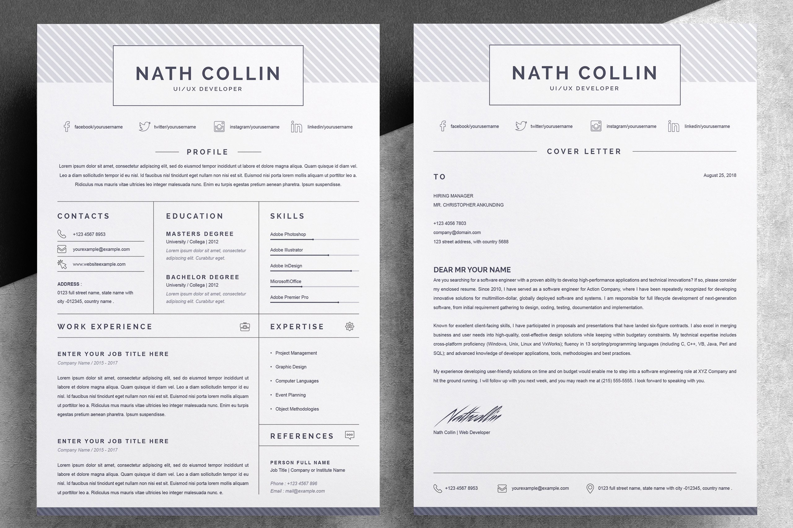 one page resume  cv template 647030  resume templates