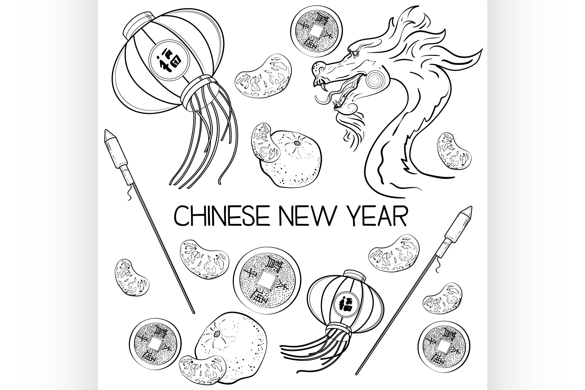 Chinese New Year elements example image 1
