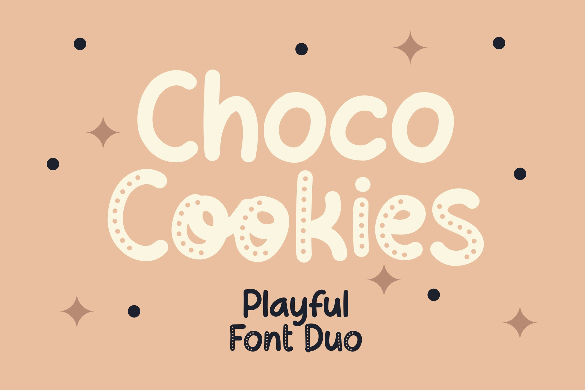 Choco Cookie - Playful Duo Font example image 1