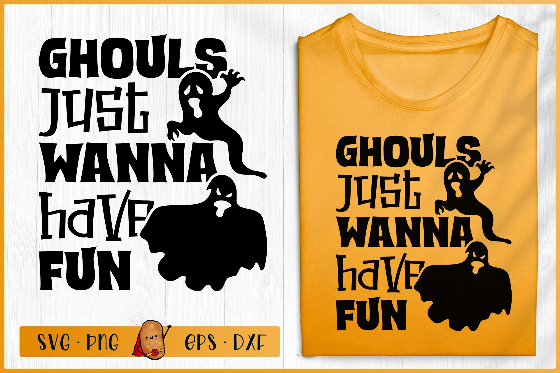 Halloween Svg Ghouls Just Wanna Have Fun Svg Ghost Svg 741815 Cut Files Design Bundles