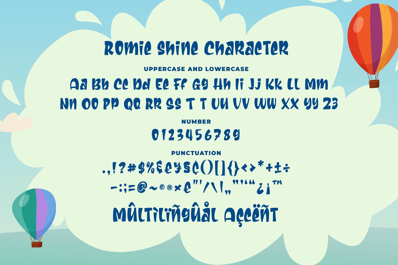 Romie Shine - a Cute Sans Serif Font example image 2