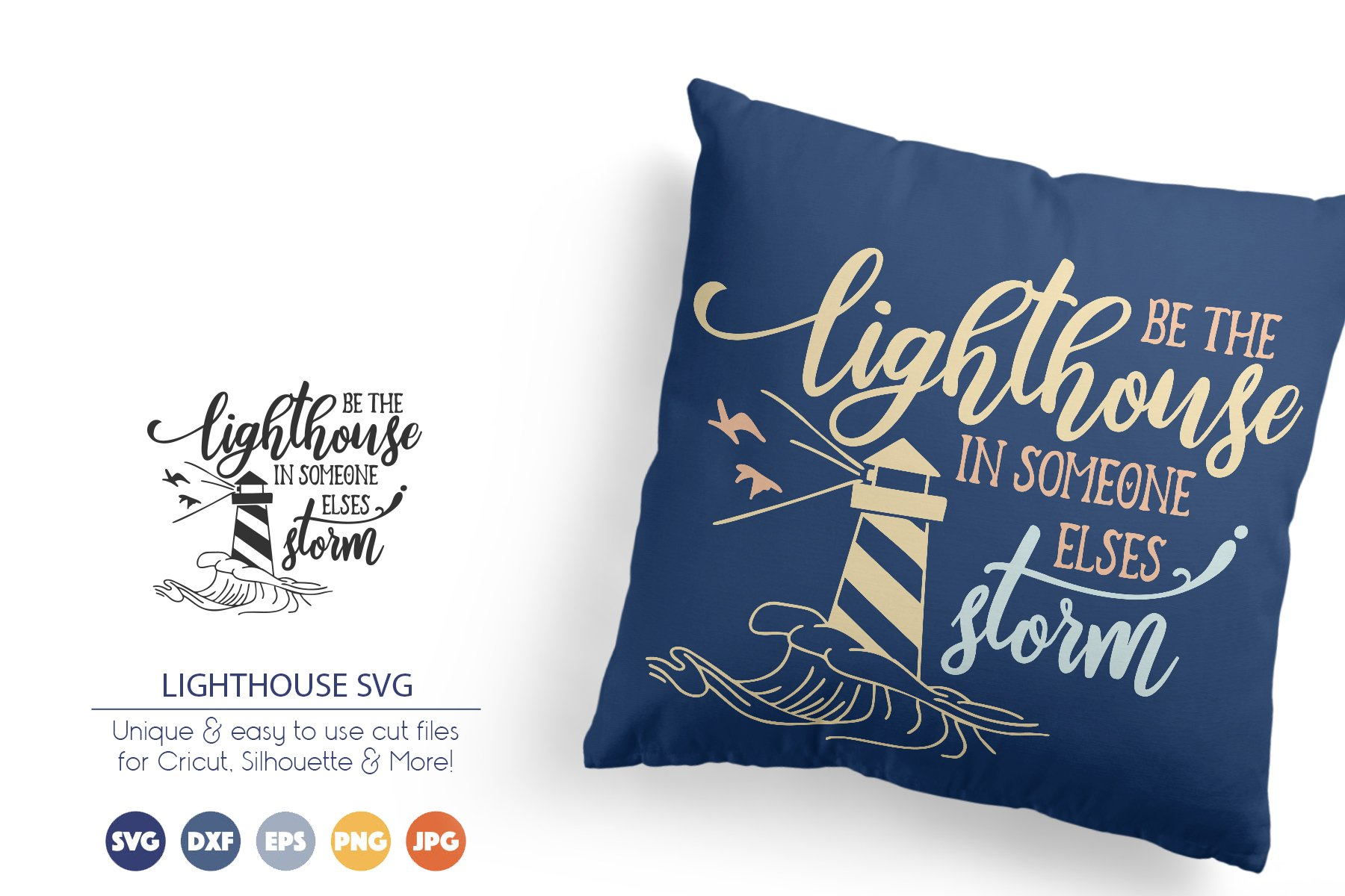 Lighthouse SVG | Inspirational Cut files example image 1
