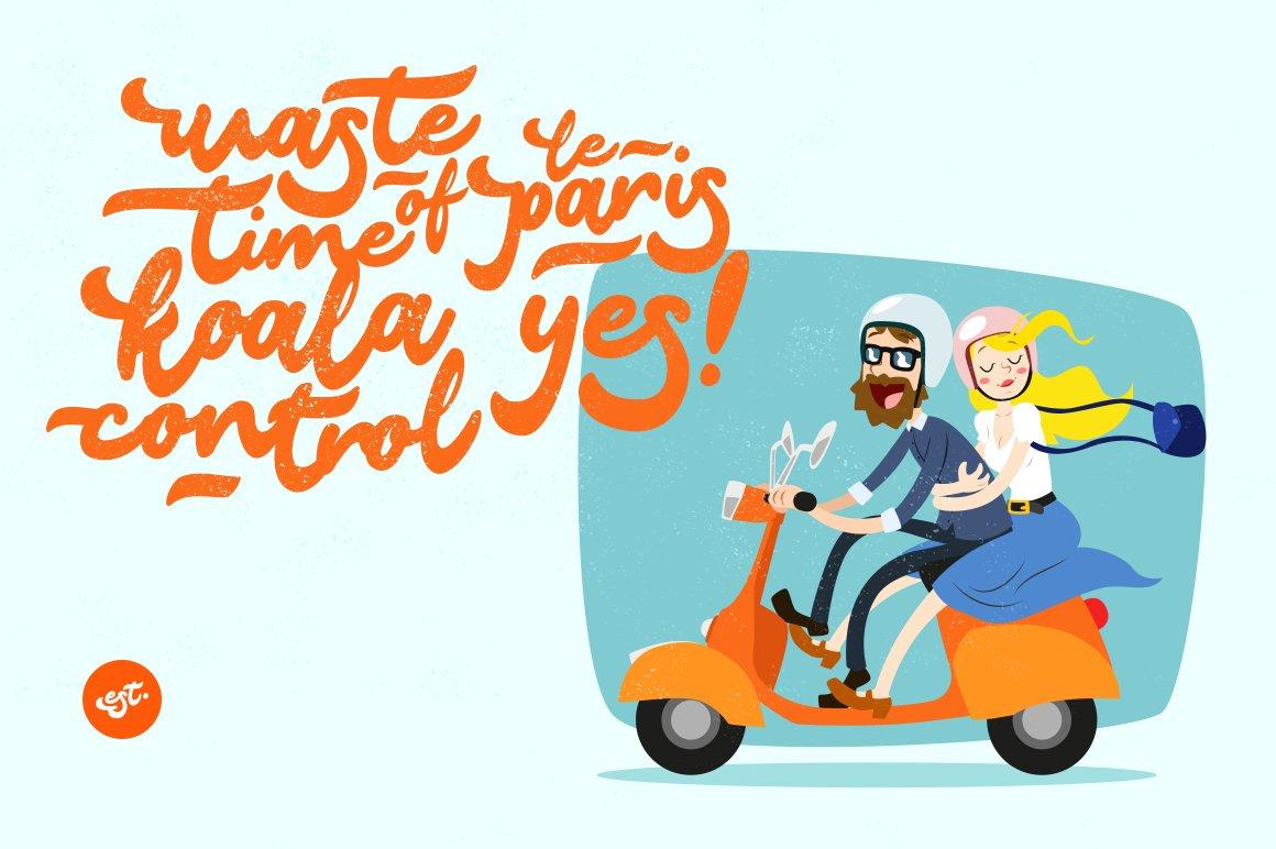 Le Paris Lettering Typeface example image 2