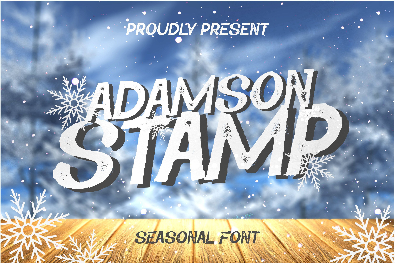 Adamson Stamp Font example image 1