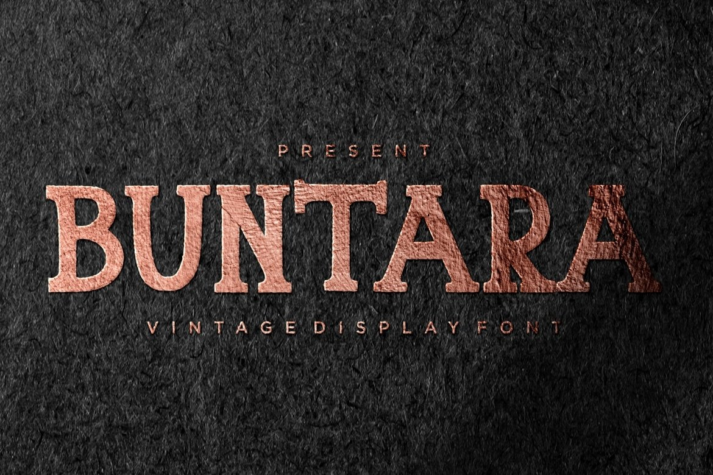 Buntara Display Font example image 1