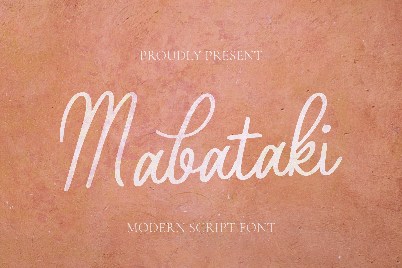 Mabataki Font example image 1