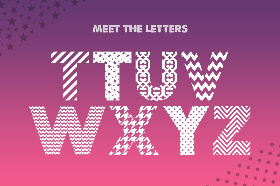 Pattern Silhouette Font example image 4