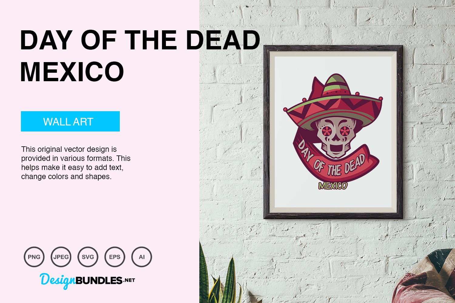 Day of The Dead Vector Illustration example image 5