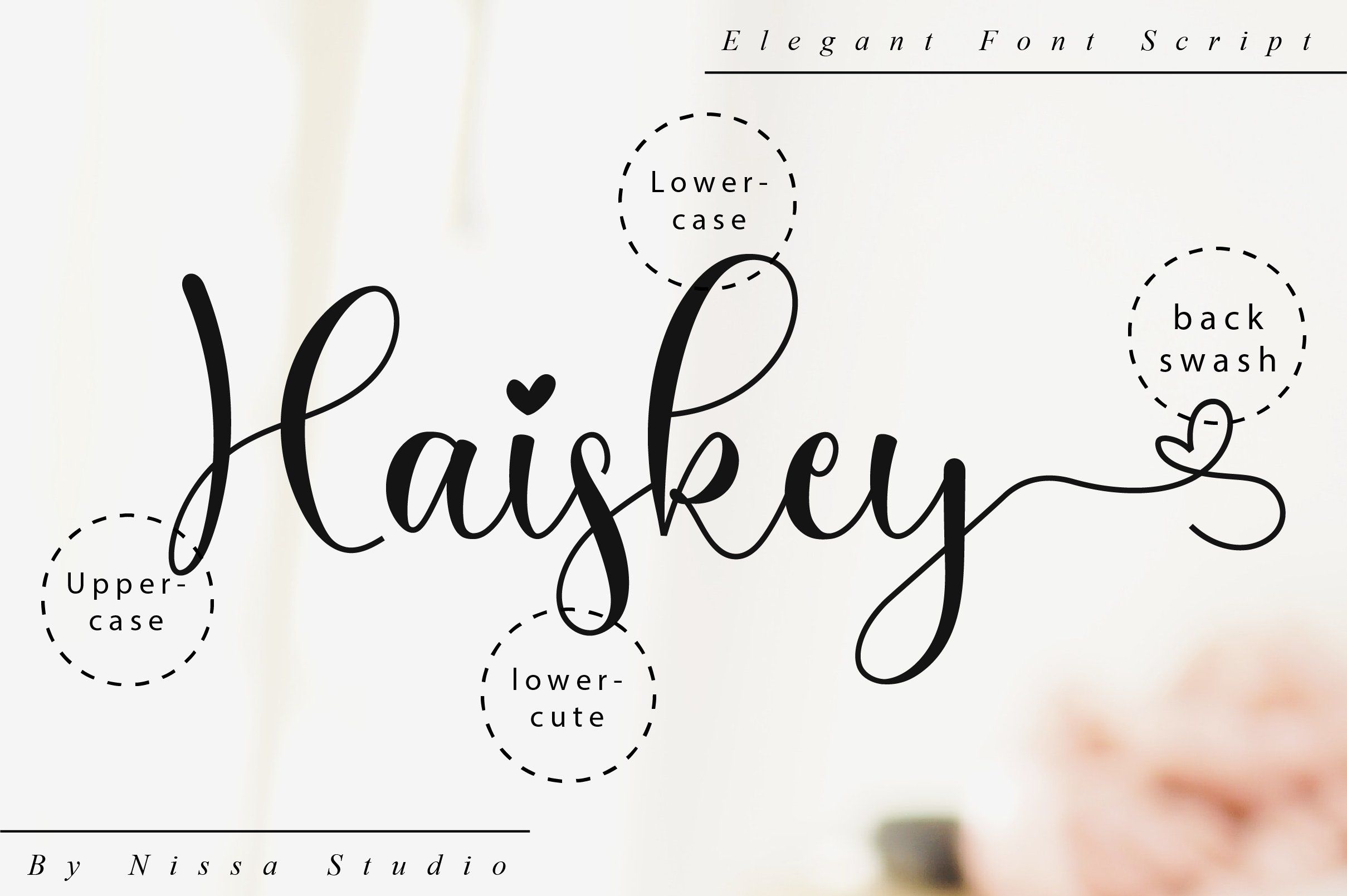 Haiskey - Lovely Script Font example image 10