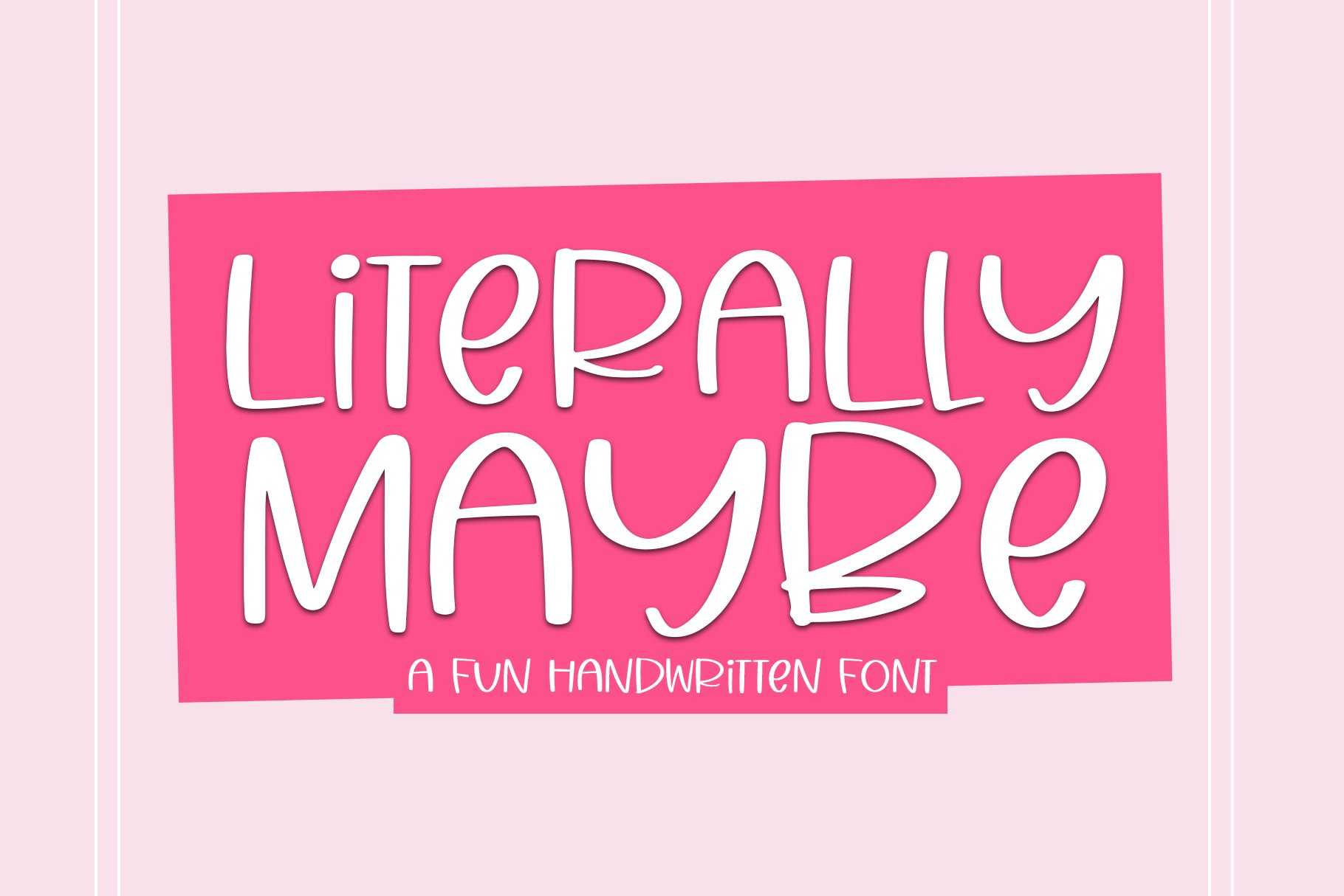 Literally Maybe - A Fun Handwritten Font example image 1