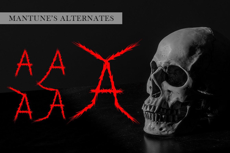 Mantune | Death Metal Font example image 3