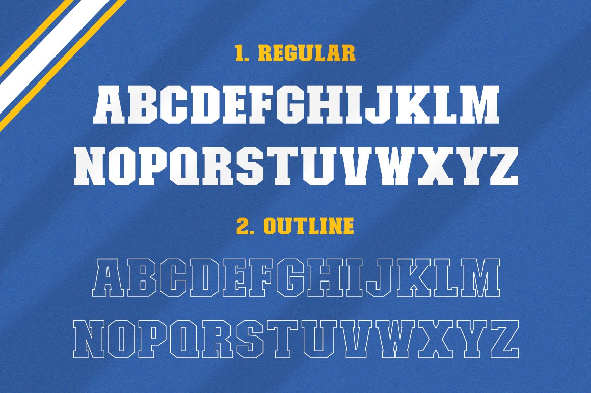 College Font Family example image 6