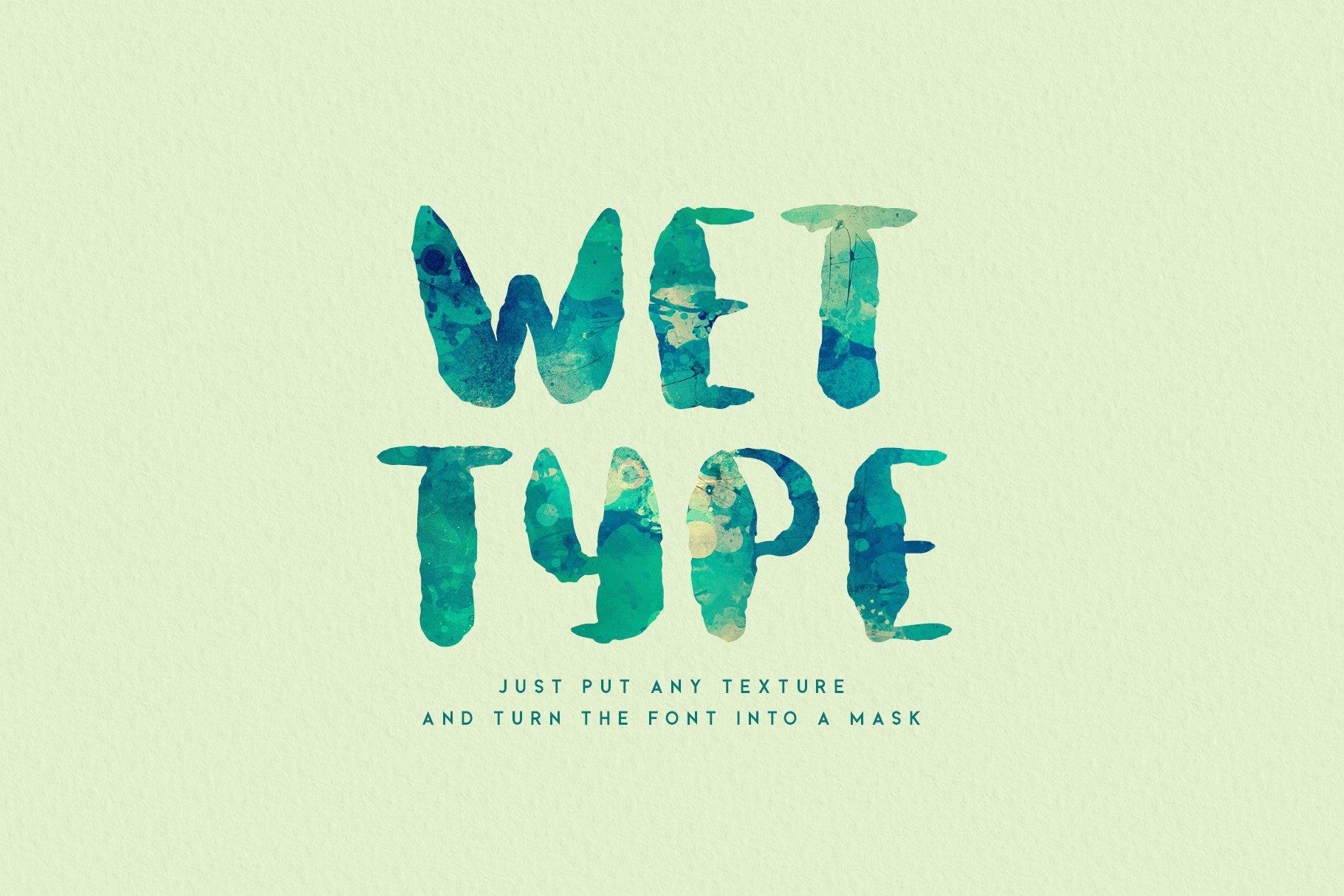 Aquatype. Display Watercolor font. example image 7