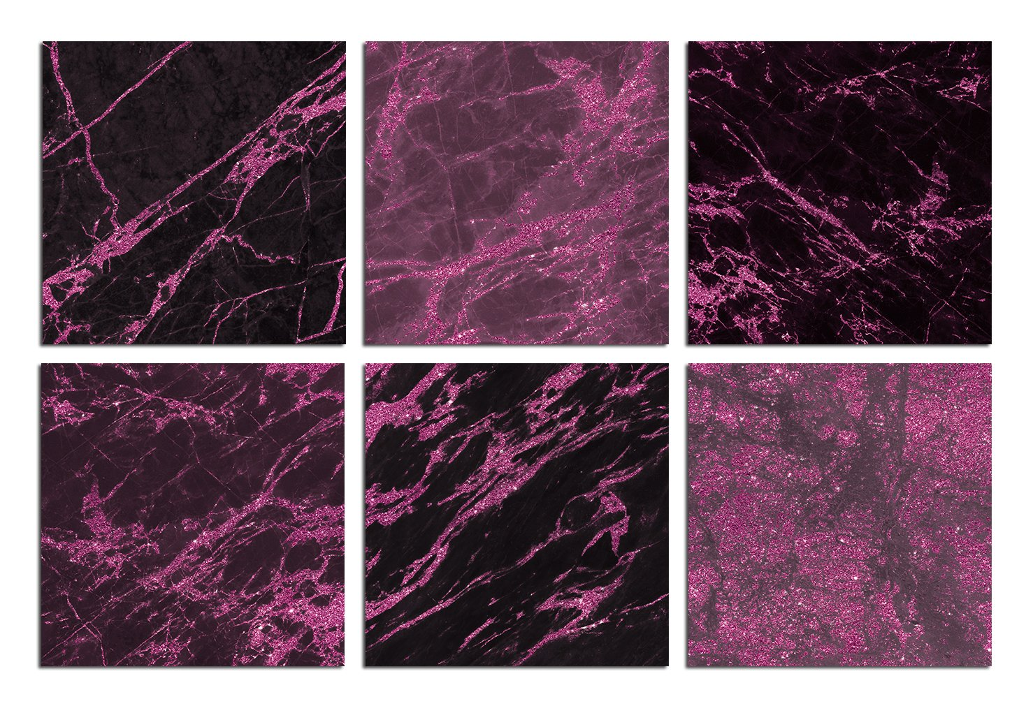 Valentine's Day Pink and Black Marble Textures example image 4