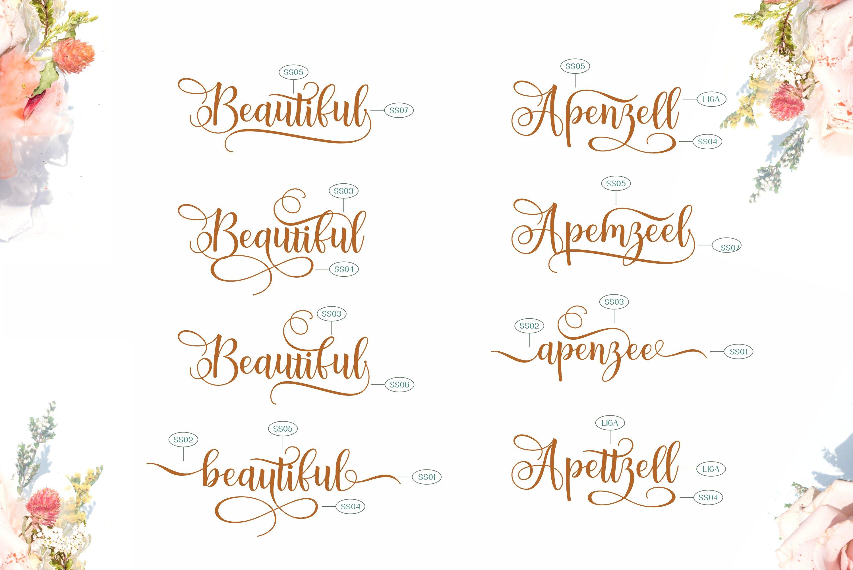 Apenzell Script | free wedding monogram logo example image 10