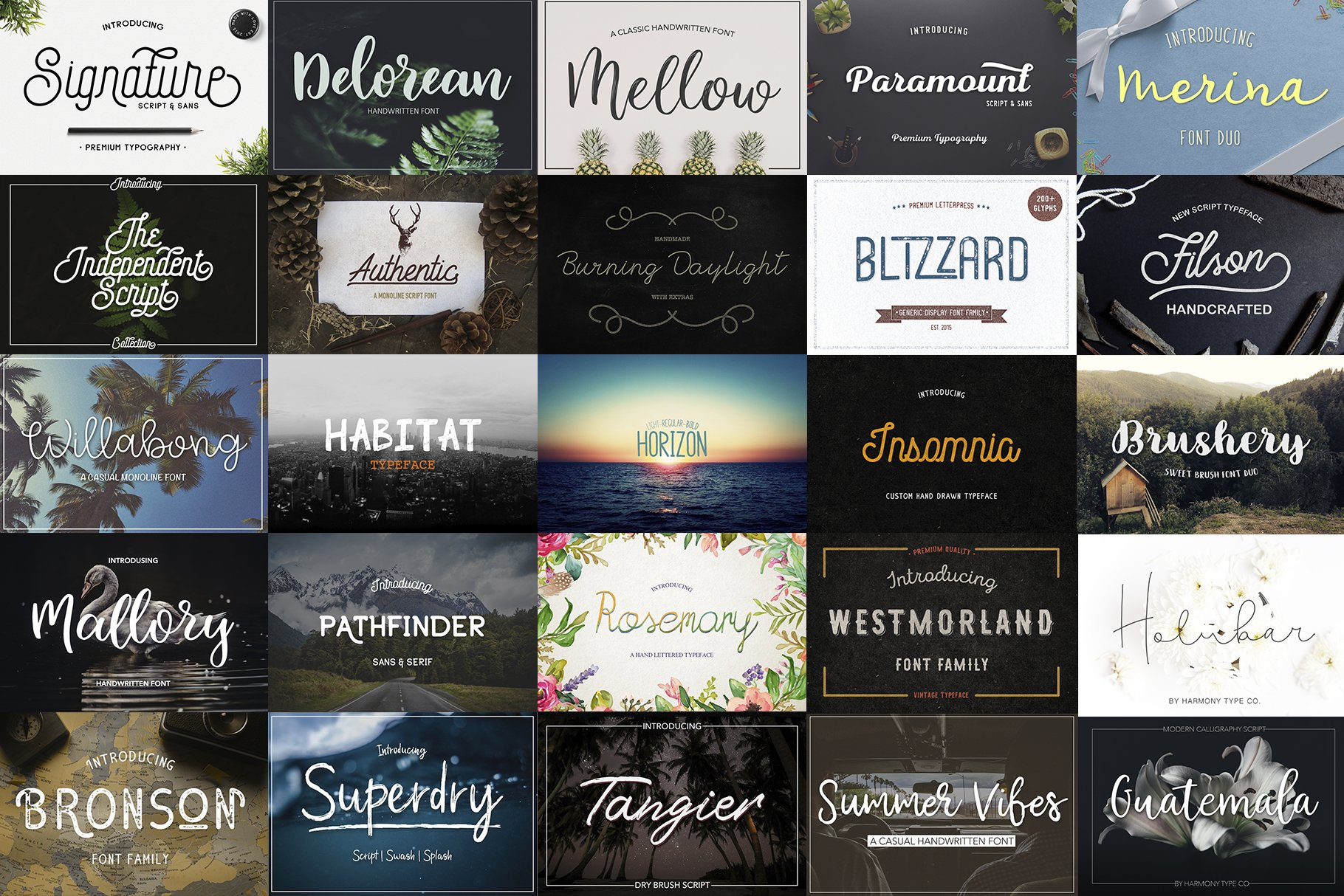 47 IN 1 FONT BUNDLE example image 2