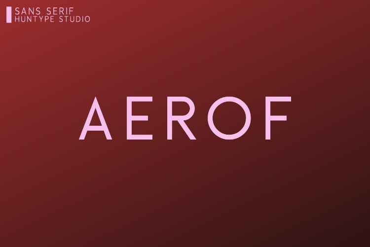 Aerof Sans Serif example image 1