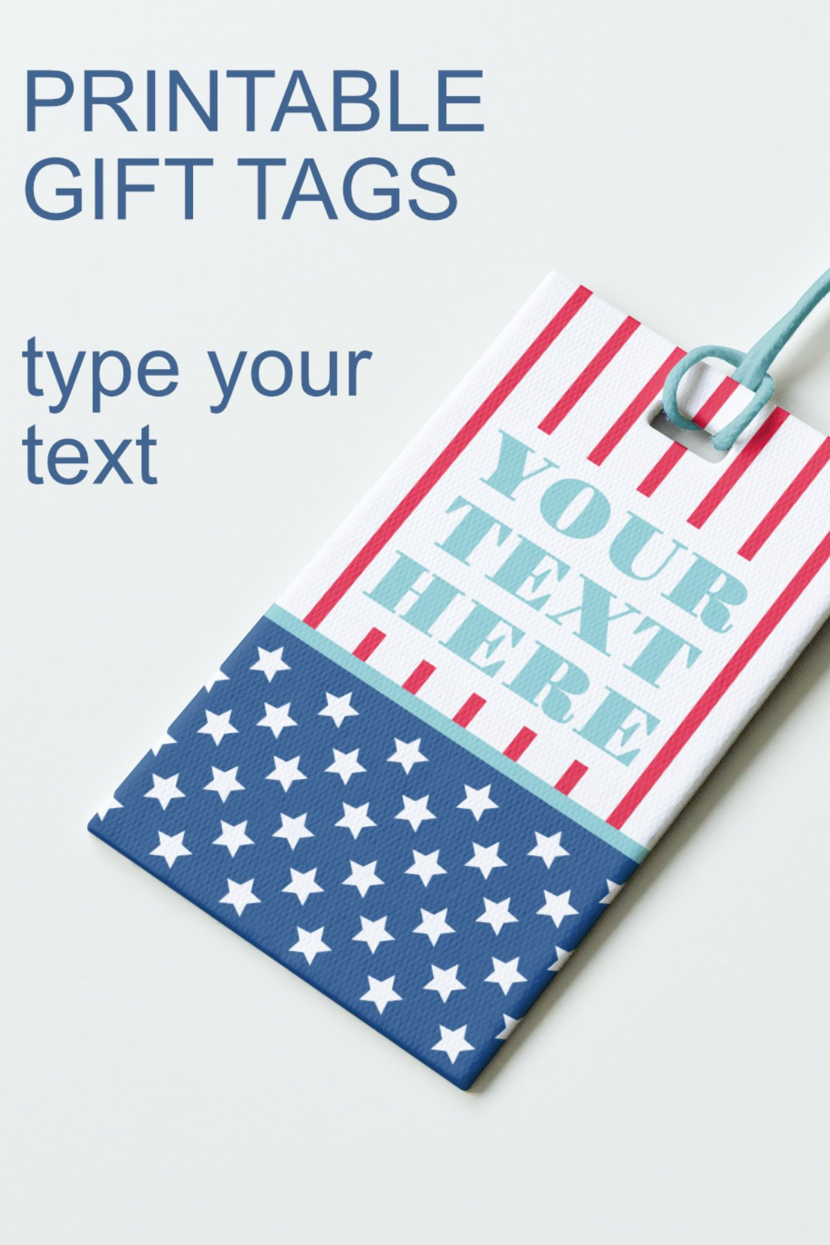 Patriotic Tags with Star Printable Editable PDF Tag Template example image 10