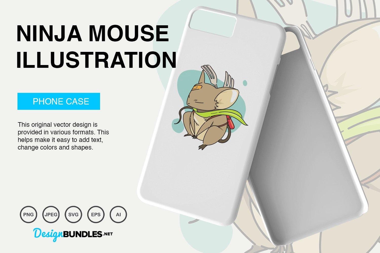 Ninja Mouse Vector Illustration example image 5