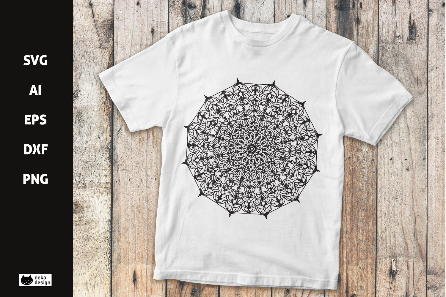 Mandala Vector Design SVG Cut File example image 1
