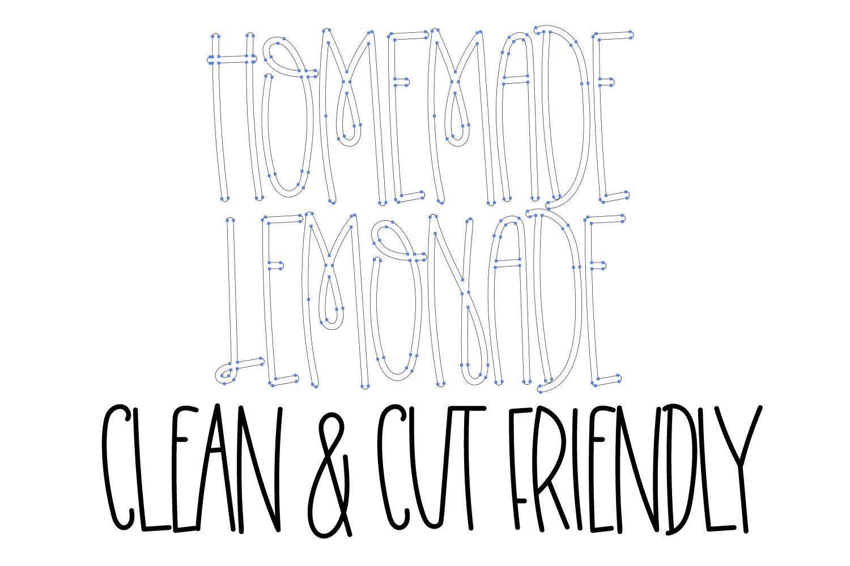 Homemade Lemonade - A Swirly Tall Font example image 2
