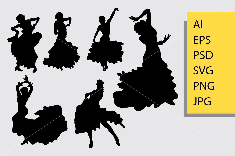 Flamenco Dance Silhouette 508027 Illustrations Design Bundles