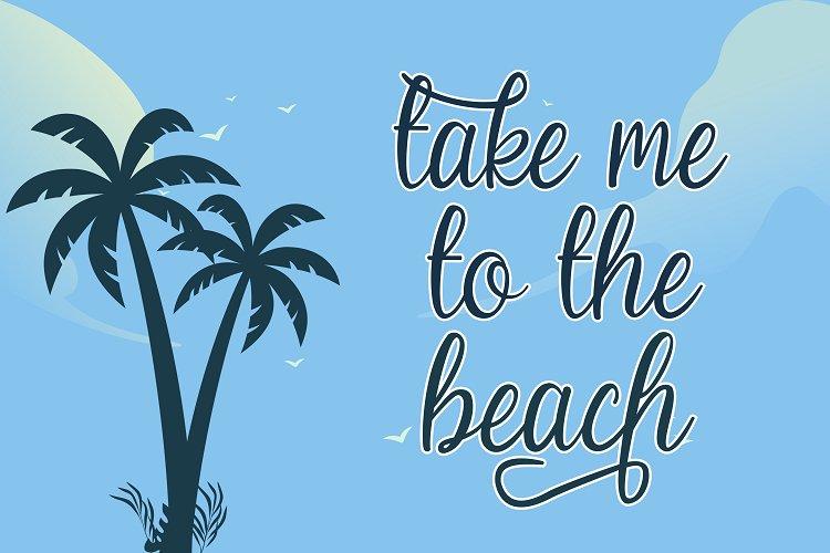 Beach Umbrella - Handwritten Script Font example image 5
