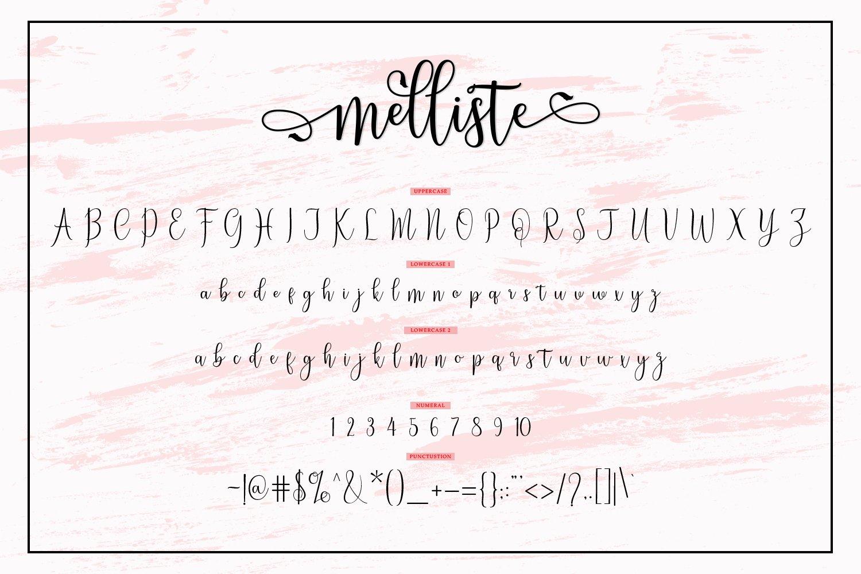 Melliste Script   A Font Love Story example image 8