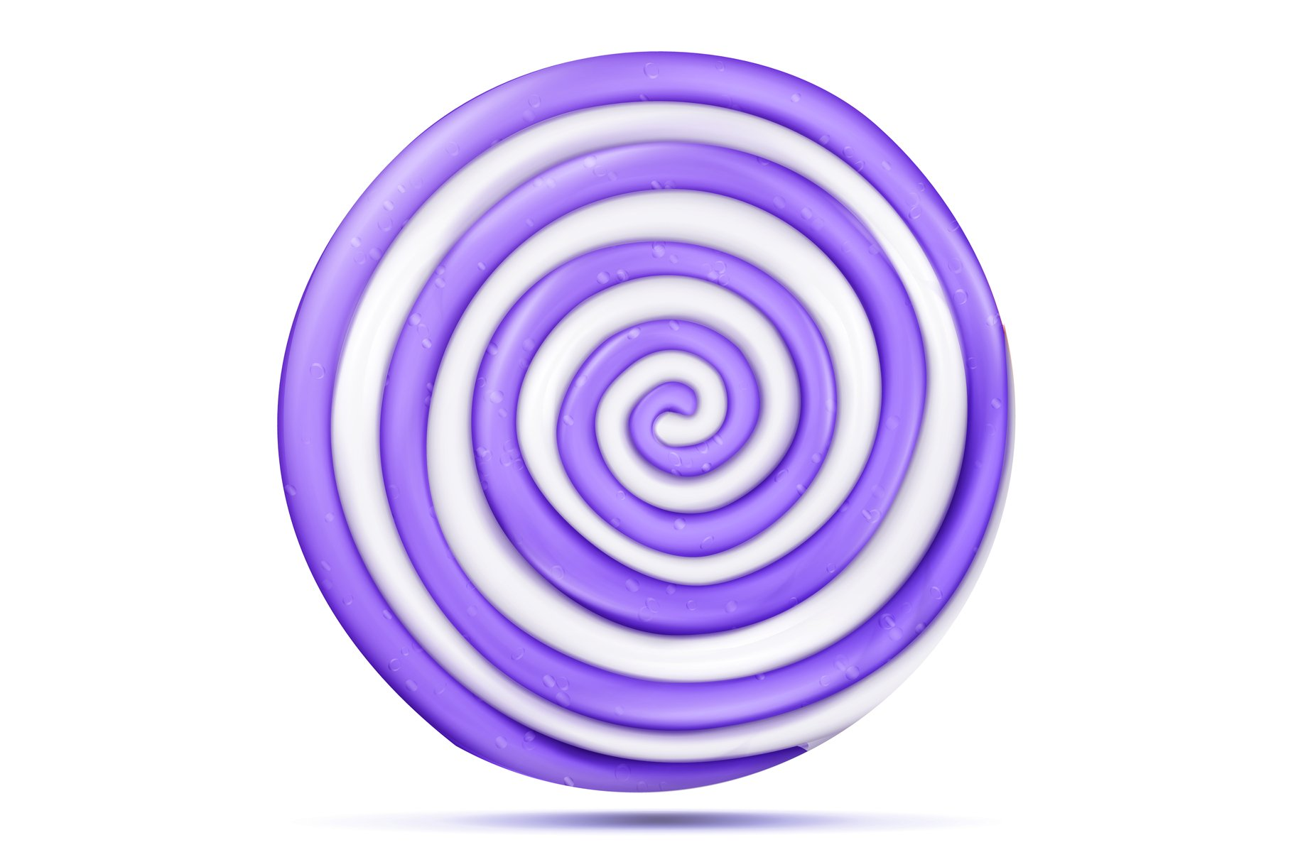 Lollipop Isolated Vector. Realistic Candy Round Purple example image 1