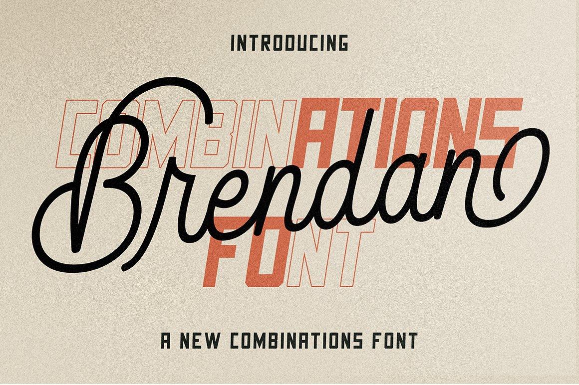 Brendan Combinations Font example image 1