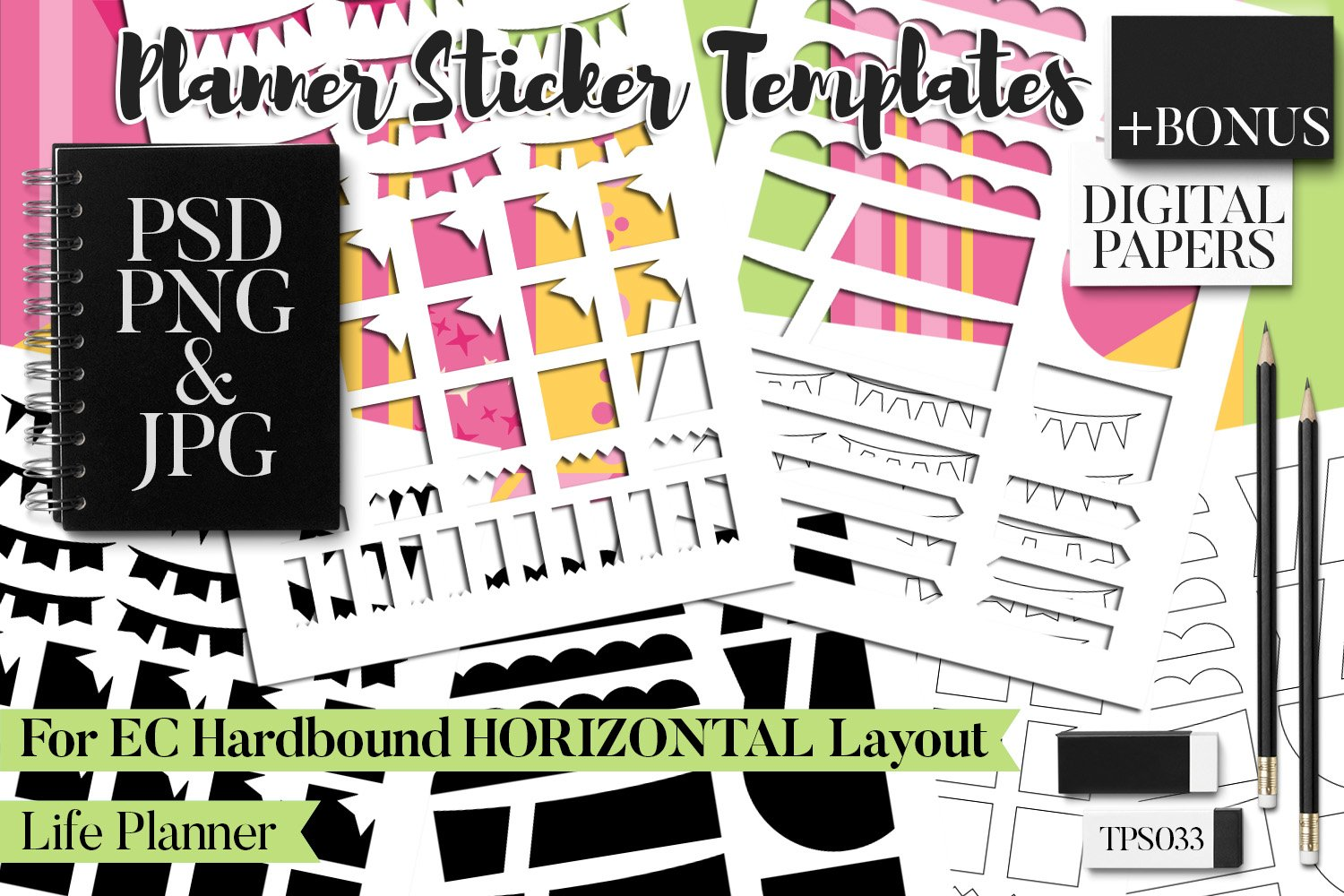 Planner Stickers Templates - Bundle Vol. 11 example image 13