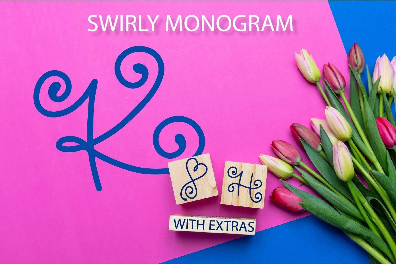 Swirly Monogram - With Swooshy Monoline Extras example image 1