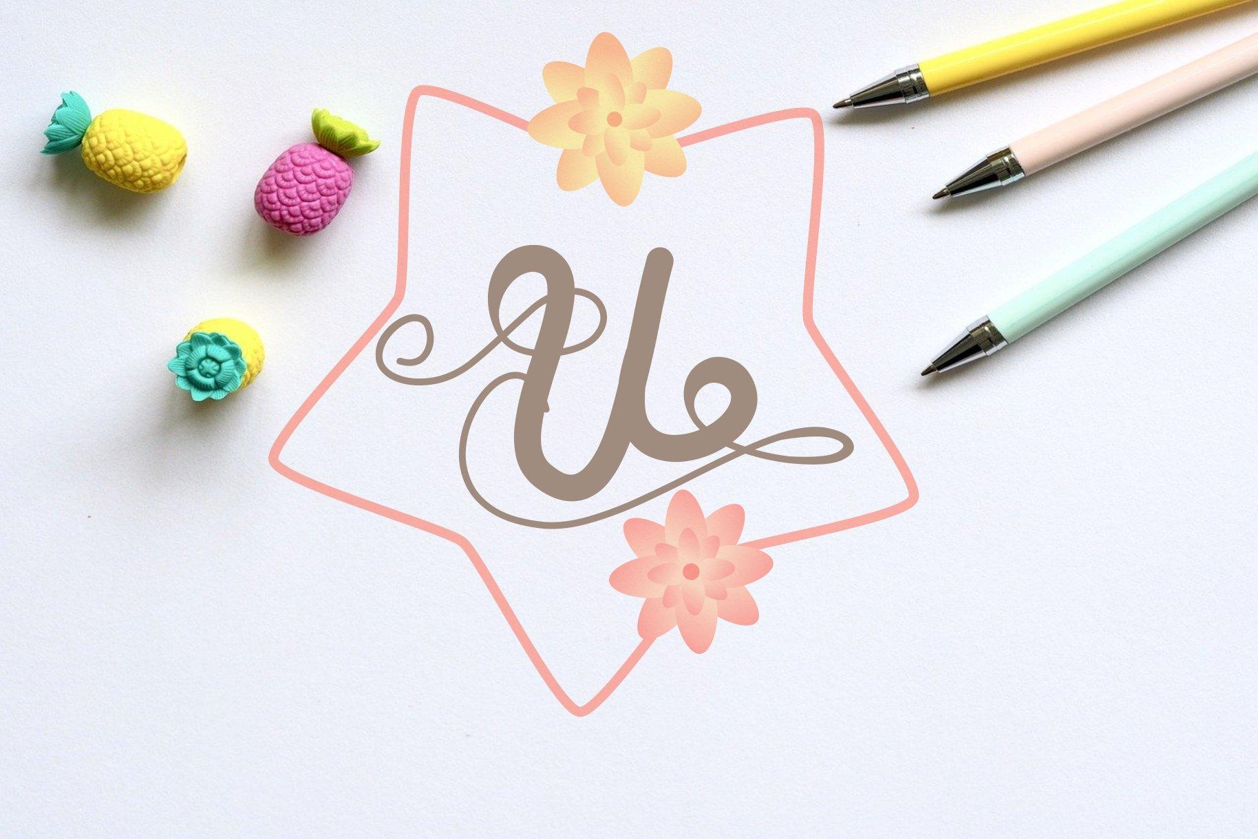 Monogram on spring example image 5