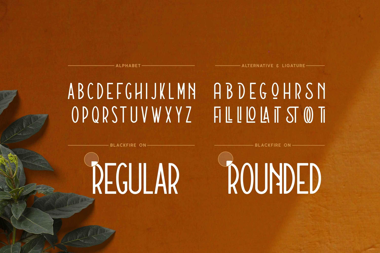 Blackfire - Sans Serif Font example image 2