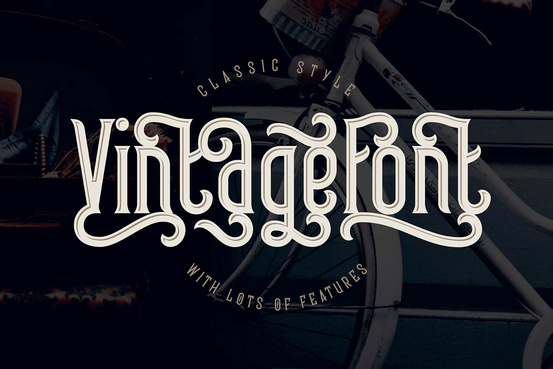 Frizzy vintage font example image 6