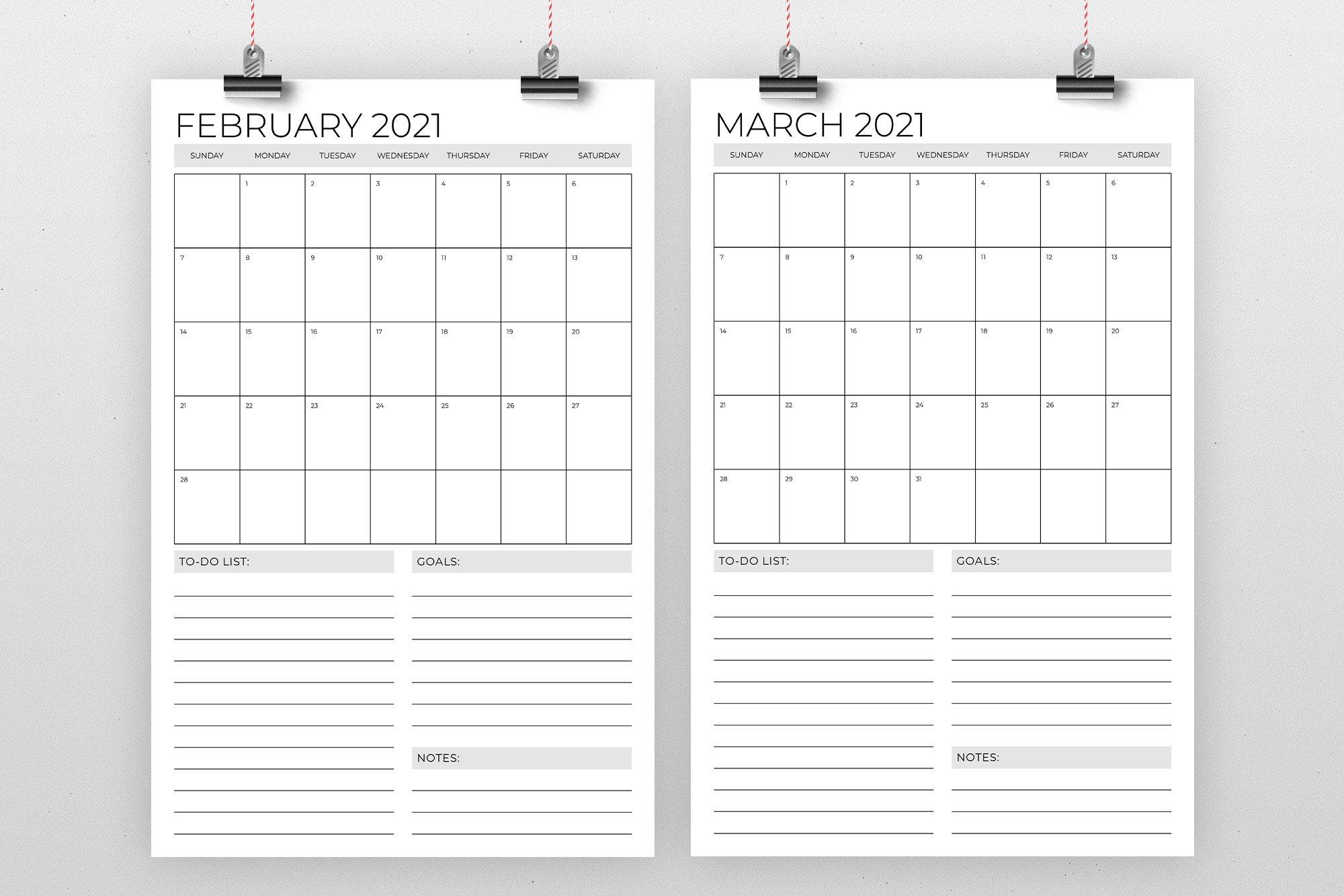 Vertical 11 x 17 Inch 2021 Calendar (438609)   Flyers ...