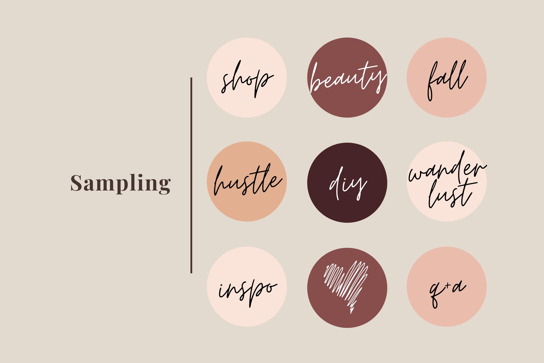 Instagram Highlight Covers Feminine Handwritten Text Png 782742 Instagram Design Bundles