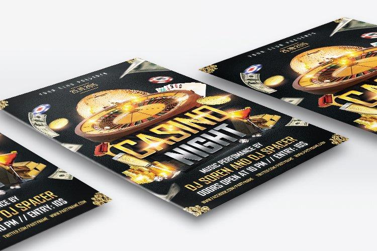 Casino Night Flyer 1 example image 2